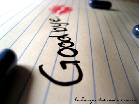 Goodbye © leahesque.deviantart.com